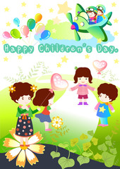 Children's Day Background Vector