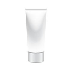 foam tube on white background isolate vector illustration eps 10