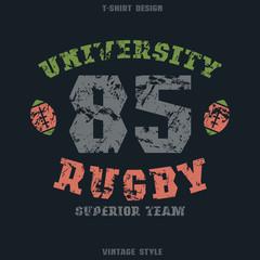 University rugby team emblem