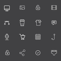 outline icon set for graphic design vector illustration eps 10
