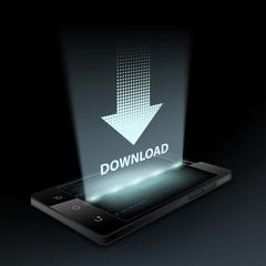 Download icon. Hologram.