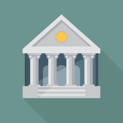 Bank illustration. Flat vector.