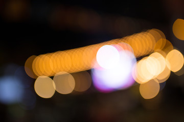 bokeh from the light in the night