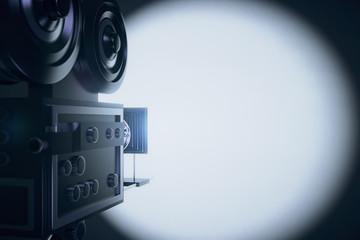 Vintage film camera is on duty