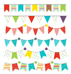 Set of colorful isolated pennants, celebrations concept
