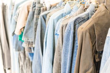 jacket jeans in shop