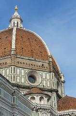 Fototapete - The dome and cross of the Basilica di Santa Maria del Fiore in Florence, Tusany, Italy