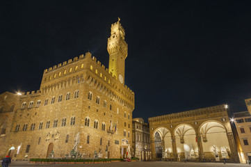Fototapete - Palazzo Vecchio and town hall building in Florence, Tuscany, Italy