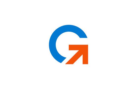arrow letter g logo