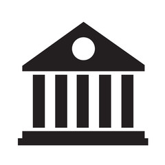Library Building Icon Illustration Art