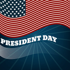 Presidents day background, united states flag. vector illustrati