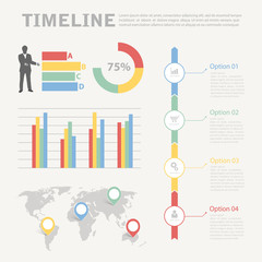 Infographic timeline for business concept