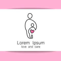 love care logo template