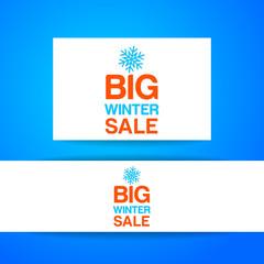 big winter sale template