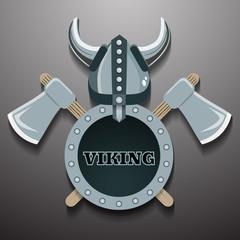 Viking warrior logo vector eps 10 illustration
