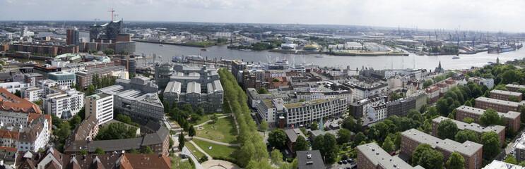 views of the historic center of Hamburg, Germany
