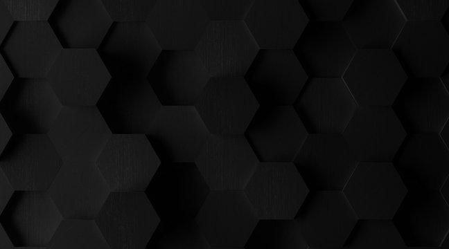 Extra Dark Hexagonal Tile Background (Lights Off)