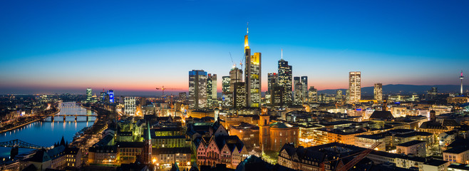 Frankfurt am Main Cityscape Panorama