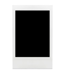 blank photo frame background