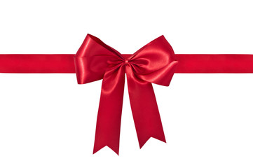 Red Gift Ribbon & Bow