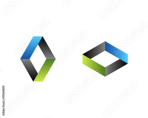 diamond shape a v letter logo template stock image and royalty free