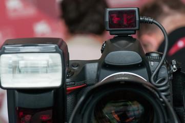 Camera and flash