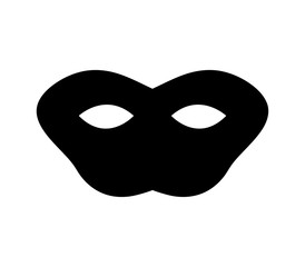 colored mask illustrated on a white background