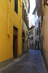 Old and narrow street in Florence. Italy