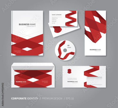 corporate identity set for business modern stationery design