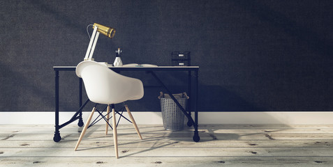 Modern Office Interior with Desk and Chair Wall mural