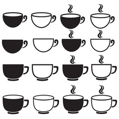 black cup on white background