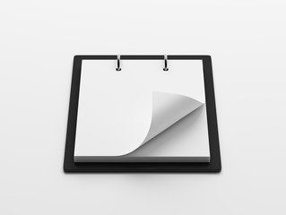 Blank White Paper Notepad isolated on white background