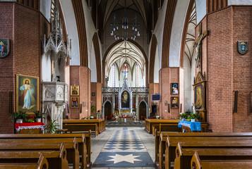 interior of Saint John the Evangelist Cathedral, Kwidzyn, Pomera