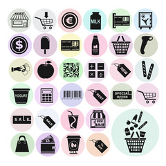 Store set vector icons