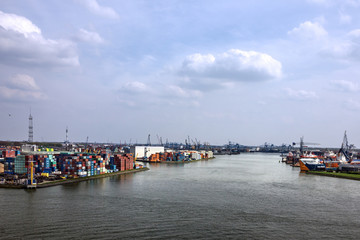 Container port terminal of Rotterdam, Netherlands