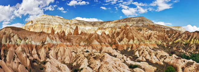 Panorama of Cappadocia valley with high resolution