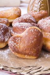 heart shaped donutsh