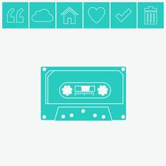Cassette vector icon.