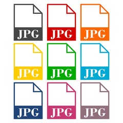 JPG file icons set