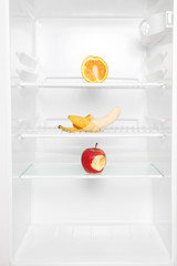 Fruit only in empty refrigerator
