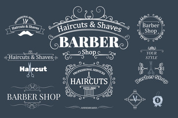 barber shop logotypes