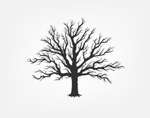 illustration of a tree in the garden. ecology