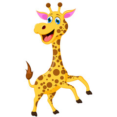 funny giraffe cartoon for you design