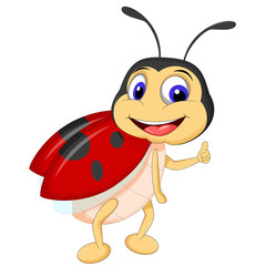 cartoon ladybugs posing