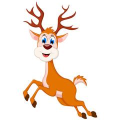 cute deer cartoon running for you design