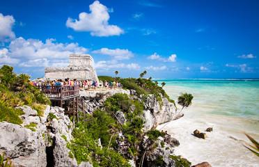 Mayan Ruins of Tulum, Yucatan, Mexico.