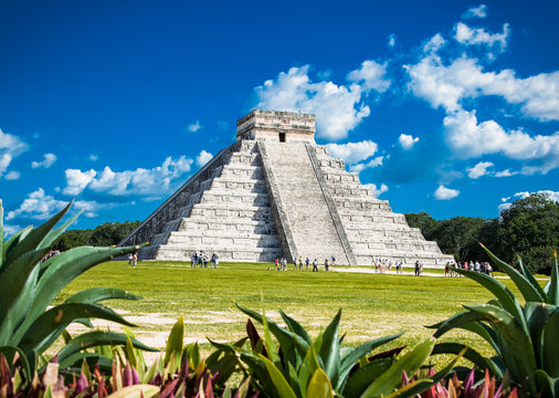Chichen Itza, one of the most visited archaeological sites, Mexi