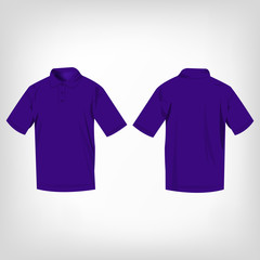 Violet polo shirt isolated vector