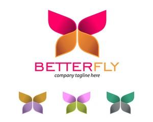 origami butterfly logo