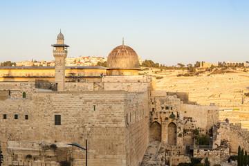 Al Aqsa mosque and Mount of Olives, Jerusalem